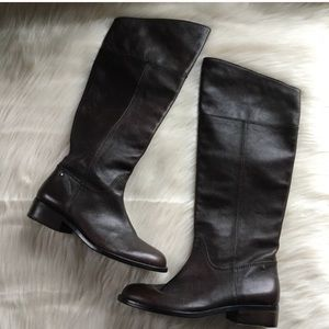 Coach leather heeled boots equestrian 6.5 leather